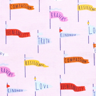 Cloud9 Fabrics Universal Love 227026 Pennant Power Pink
