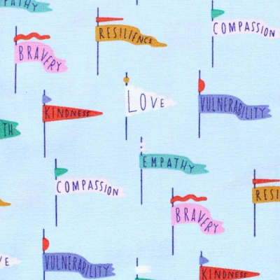 Cloud9 Fabrics Universal Love 227027 Pennant Power Light Blue