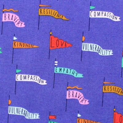 Cloud9 Fabrics Universal Love 227028 Pennant Power Blue