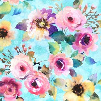 <img class='new_mark_img1' src='https://img.shop-pro.jp/img/new/icons12.gif' style='border:none;display:inline;margin:0px;padding:0px;width:auto;' />Michael Miller Fabrics Floral Fancy DCX9693-AQUA Delicate Breeze Aqua