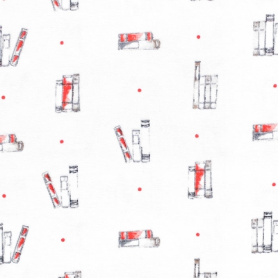 Camelot Fabrics Oxford 71190402-01 Dotty Books Cream