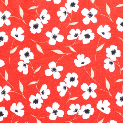 Camelot Fabrics Oxford 71190404-01 Library Floral Red
