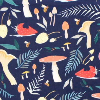 Riley Blake Designs Dream World C9081-NAVY Toadstools Navy