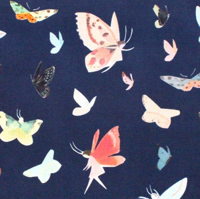 Riley Blake Designs Dream World C9084-NAVY Butterflies Navy