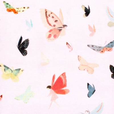 Riley Blake Designs Dream World C9084-PINK Butterflies Pink