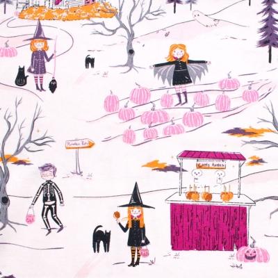 Art Gallery Fabrics Spooky'n Sweeter Peppermint's Tale Dusk