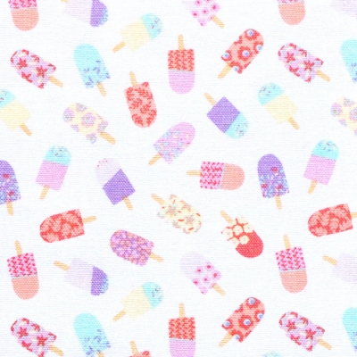 Camelot Fabrics Ice Cream Blossoms 27200702-1 Floral Ice Pop Toss