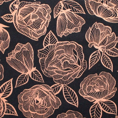 Ruby Star Society First Light RS5049-12M Floral Lace Roses Flowers Black