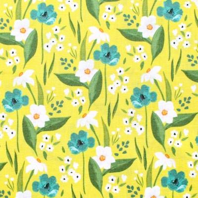 Windham Fabrics Cora 52360-3 Happy Floral Yellow