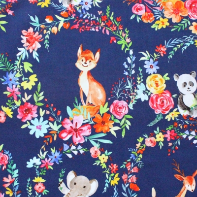 Michael Miller Fabrics Everyone is Invited DCX9799-NAVY Enchanted Forest Navy