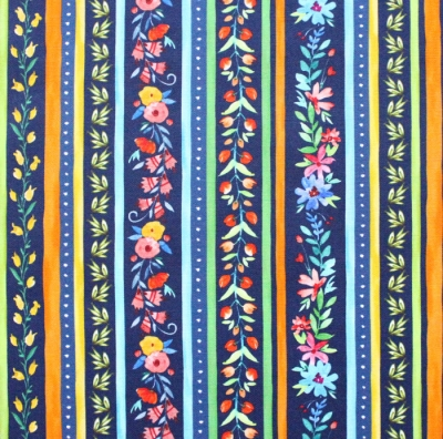 Michael Miller Fabrics Everyone is Invited CX9802-NAVY Twirling Flowers Navy