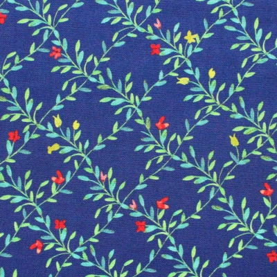 Michael Miller Fabrics Everyone is Invited CX9803-NAVY Green Fence