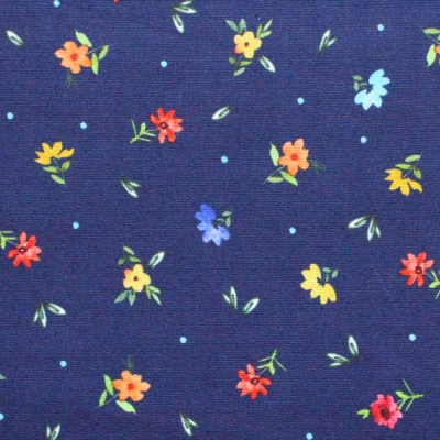 Michael Miller Fabrics Everyone is Invited CX9804-NAVY Dotty Flowers Navy