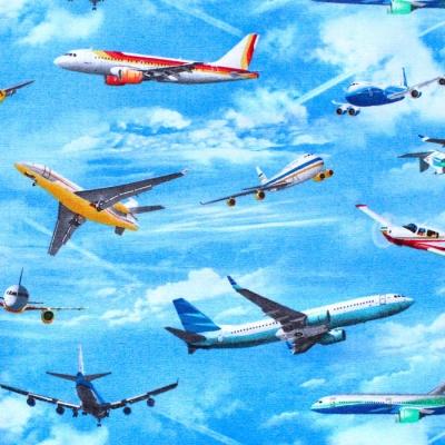 Elizabeth's Studio In Motion 466E-BLU Airplanes Blue