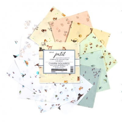 Robert Kaufman Fabrics / Wishwell Petit / 5in Squares 42pcs / チャームパック