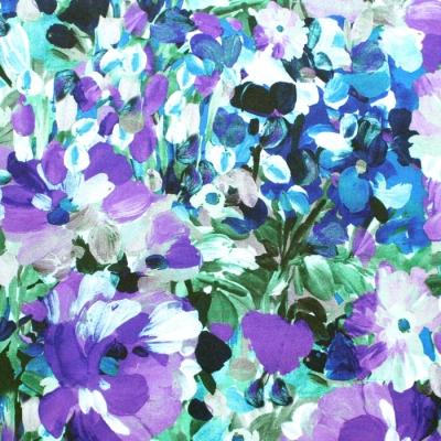 Robert Kaufman Fabrics Painterly Petals SRKD-20263-238 Impressionist Flower Blooms Garden