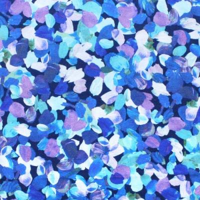 Robert Kaufman Fabrics Painterly Petals SRKD-20265-64 Confetti Flower Petals Azure