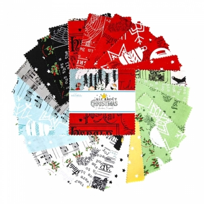 Riley Blake Designs / All About Christmas / 5in Squares 42pcs / チャームパック