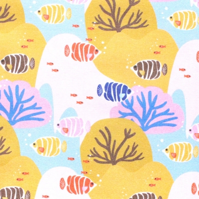 <img class='new_mark_img1' src='https://img.shop-pro.jp/img/new/icons12.gif' style='border:none;display:inline;margin:0px;padding:0px;width:auto;' />Paintbrush Studio Fabrics  Under the Sea 120-21930 Coral Choral