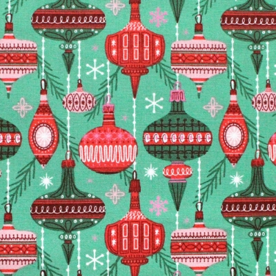 Cloud9 Fabrics Christmas Past 227092 Baubles and Branches