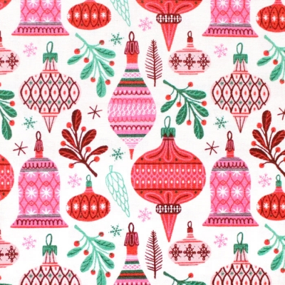 Cloud9 Fabrics Christmas Past 227086 Vintage Baubles