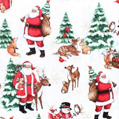 Wilmington Prints Winter Forest 39690-137 Scenic Cream