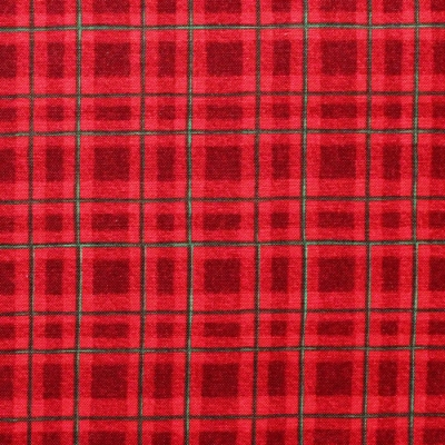 Wilmington Prints Winter Forest 39696-337 Plaid Red
