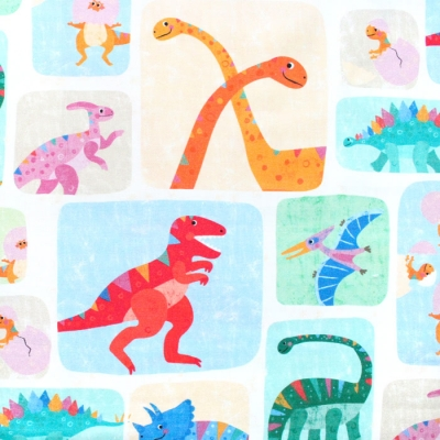 <img class='new_mark_img1' src='https://img.shop-pro.jp/img/new/icons12.gif' style='border:none;display:inline;margin:0px;padding:0px;width:auto;' />Michael Miller Fabrics Rainbow Dino DC10039-IVOR Dino Patch