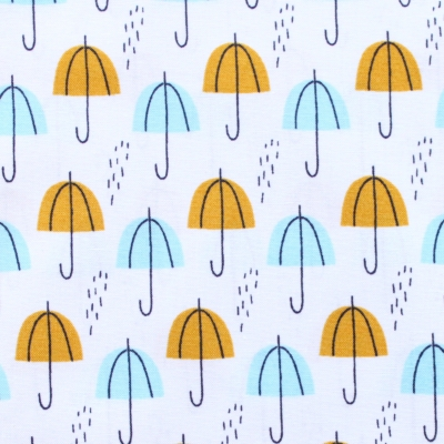 Cloud9 Fabrics Spring Walk 145018 Umbrella Rain Gold