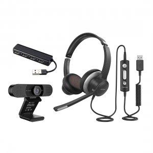 Online Meeting Set - Standard ヘッドセット・Webカメラ・USBハブ3点セット