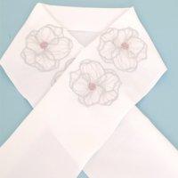 《六花オリジナル》刺繍半衿【大輪の花】
