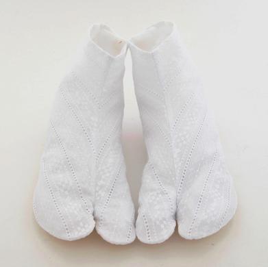 《六花オリジナル》綿レース足袋/本麻裏【チロルl】