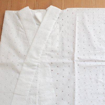 《六花オリジナル》綿レース半襦袢【水玉】