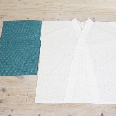 《期間限定お買い得》綿レース半襦袢+替え袖セット