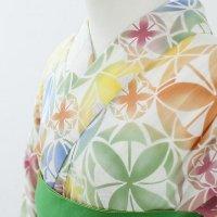カラフル花紋浴衣