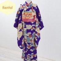 《レンタル》七五三・7歳女の子【紫古典柄】