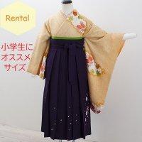 《レンタル》卒業袴【着物:黄色絞り・袴:紫】