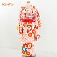 《レンタル》七五三・7歳女の子コーデ【ピンク地菊】