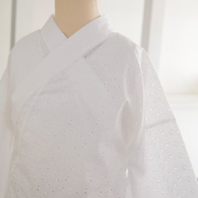 《六花オリジナル》綿レース半襦袢【パンジー】
