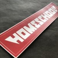 HOMESCHOOL ホームスクール 【STICKER】赤 23.5×4cm 大 新品正規(メール便)