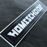 HOMESCHOOL ホームスクール 【STICKER】黒 12×2cm 中 新品正規(メール便)