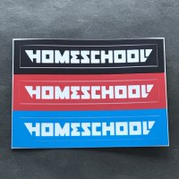 HOMESCHOOL ホームスクール 【STICKER SET】黒赤青 各色7.5×1cm 小 新品正規(メール便)