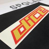 DICE ダイス ステッカー【LOGO SHEET STICKER】黄/赤 25cm 新品正規(定外内)