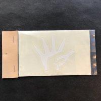 FATFIVE ファットファイブ ステッカー【HAND SHEET STICKER】白 5cm 新品正規(メール便)