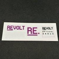 REVOLT リボルト ステッカー 【LOGO SET SHEET STICKER】紫/白 13.5×5cm 新品正規(メール便)