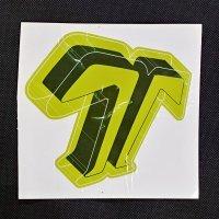 TECHNINE テックナイン【DIECUT T LOGO STICKER】黄緑 16×15cm ステッカー  新品正規(メール便)
