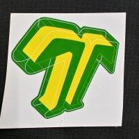 TECHNINE テックナイン【DIECUT T LOGO STICKER】黄/緑 16×15cm ステッカー 新品正規(メール便)