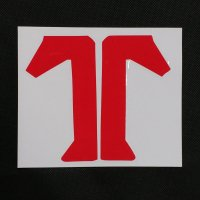 TECHNINE テックナイン【DIECUT T LOGO STICKER】 赤 14.5×12.5cm ステッカー  新品正規(メール便)