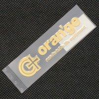 ORAN'GE オレンジ【LOGO DIECUT】ゴールド 8cm  ステッカー 新品正規 (メール便)