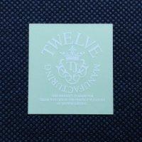 TWELVE トゥエルブ【CROWN LOGO SHEET STICKER】 白 小  ステッカー 新品正規(メール便)